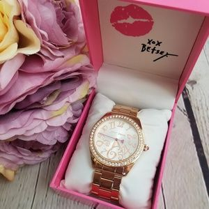 Betsey Johnson Gold Watch in Box